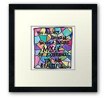 Precious Mosaic Framed Print