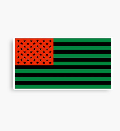 Pan-African American Flag 3 Canvas Print