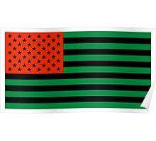 Pan-African American Flag 3 Poster