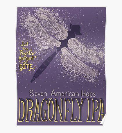 Dragonfly IPA Beer Logo Poster