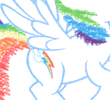 Sprayed Rainbow Dash (20% Cooler) Sticker
