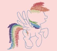 Sprayed Rainbow Dash Baby Tee