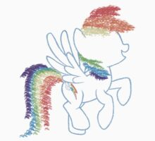 Sprayed Rainbow Dash Kids Clothes