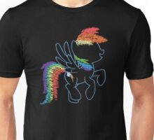 Sprayed Rainbow Dash Unisex T-Shirt