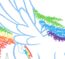Sprayed Rainbow Dash Sticker
