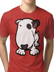 Blabla Black Eye Patch Cartoon Bull Terrier Tri-blend T-Shirt