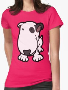 Blabla Black Eye Patch Cartoon Bull Terrier Womens Fitted T-Shirt
