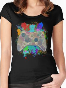 Painted Xbox 360 Controller Women's Fitted Scoop T-Shirt