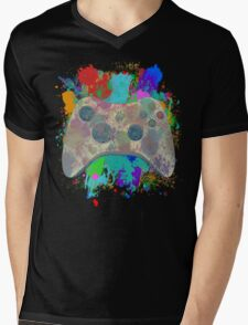 Painted Xbox 360 Controller Mens V-Neck T-Shirt