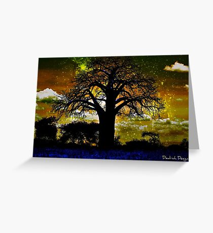 Silhouette Sizzle  Greeting Card