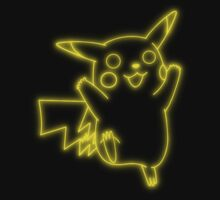 Neon Pikachu Kids Clothes