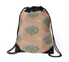 Curly Q Flower Drawstring Bag
