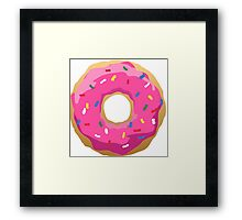 Simpsons Iconic Doughnut  Framed Print