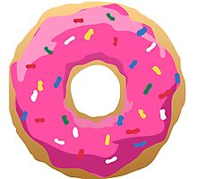 Simpsons Iconic Doughnut  Photographic Print