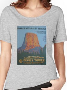 National Park Service WPA Poster - Devil's Tower Women's Relaxed Fit T-Shirt