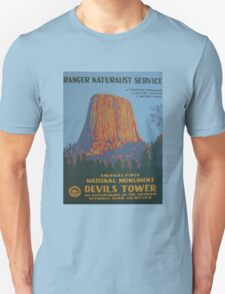 National Park Service WPA Poster - Devil's Tower Unisex T-Shirt