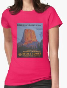 National Park Service WPA Poster - Devil's Tower Womens Fitted T-Shirt