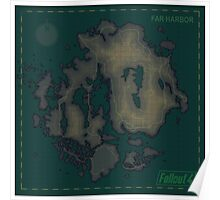 Far Harbor Blank Map Poster