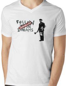 Banksy - Follow your dreams Mens V-Neck T-Shirt