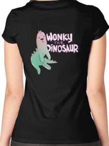 Wonky Dinosaur Women's Fitted Scoop T-Shirt