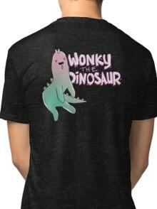 Wonky Dinosaur Tri-blend T-Shirt