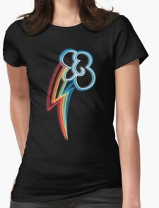 Rainbow Dash Cutie Mark Womens Fitted T-Shirt