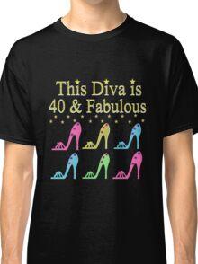 GLAMOROUS  40 AND FABULOUS SHOE QUEEN Classic T-Shirt