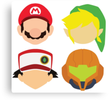 Nintendo Greats Canvas Print