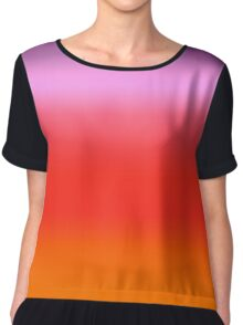 Digital Sunset Gradient Chiffon Top