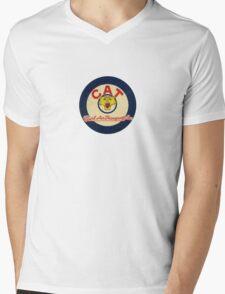 CAT - Civil Air Transport Cursive Mens V-Neck T-Shirt
