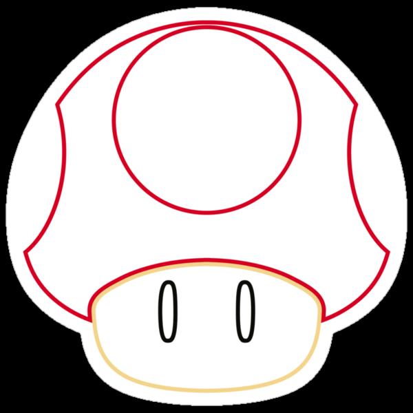 Minimalist Mario Mushroom by Colossal