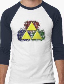 Smoky Triforce Men's Baseball ¾ T-Shirt