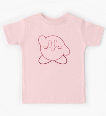 Minimalist Kirby With Face Kids Tee