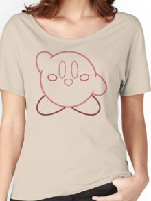 Minimalist Kirby With Face Women's Relaxed Fit T-Shirt