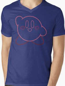 Minimalist Kirby With Face Mens V-Neck T-Shirt