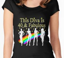 40TH BIRTHDAY GLAM GODDESS Women's Fitted Scoop T-Shirt