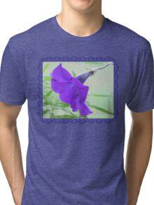A Purple Petunia on the Porch Tri-blend T-Shirt