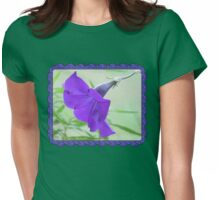 A Purple Petunia on the Porch Womens Fitted T-Shirt