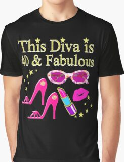 PRETTY PINK 40 YEAR OLD DIVA DESIGN Graphic T-Shirt