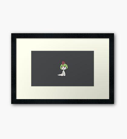 Ralts Pokemon Framed Print