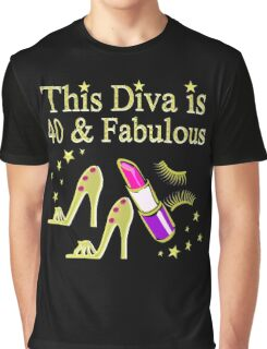 GOLD SPARKLING FABULOUS 40TH DESIGN Graphic T-Shirt