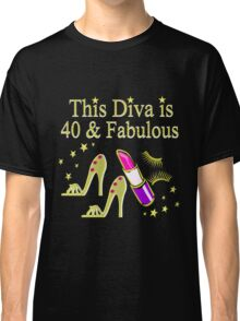GOLD SPARKLING FABULOUS 40TH DESIGN Classic T-Shirt