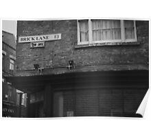 Brick Lane, London Poster