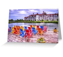 The dock at Blue Mountain Greeting Card