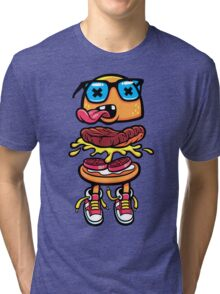Nerd Burger For Nerd People Tri-blend T-Shirt
