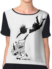 Banksy - Shop 'til you drop Chiffon Top