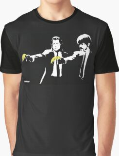Banksy - Pulp Fiction Banana Guns Graphic T-Shirt