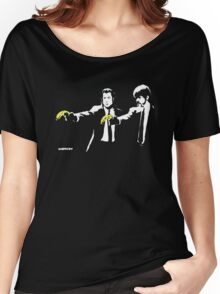 Banksy - Pulp Fiction Banana Guns Women's Relaxed Fit T-Shirt