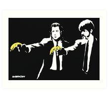 Banksy - Pulp Fiction Banana Guns Art Print