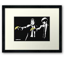 Banksy - Pulp Fiction Banana Guns Framed Print